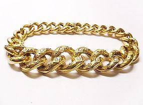 Victorian 18Kt Link Bracelet with Seed pearls