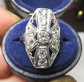 Platinum and Diamond Ladies Ring