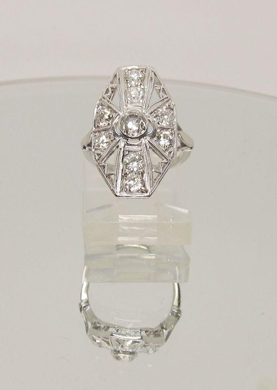 Platinum and Diamond Ladies Ring