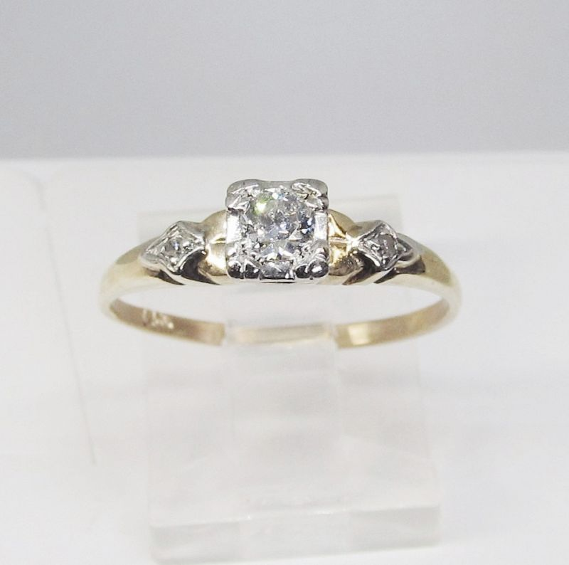 Diamond Engagement Ring Set in 14Kt Yellow Gold