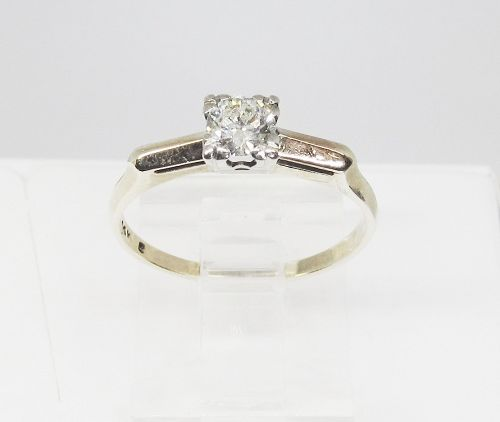 Two Tone 14Kt Gold and Diamond Engagement Ring