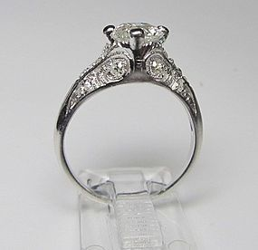 Vintage 1920-s Platinum and Diamond Engagement Ring