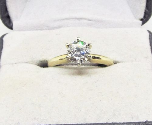 Diamond Solitaire Engagement Ring Classic