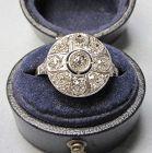 Old mine diamond cluster ring