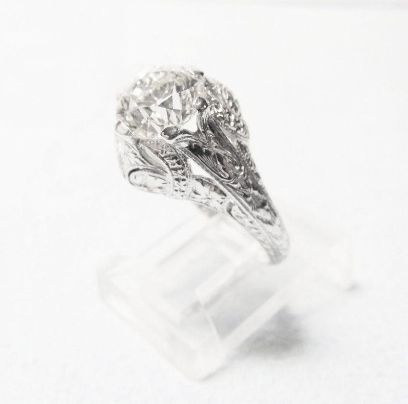 Diamond Engagement Ring 1.70 Ct Vintage 1920-s