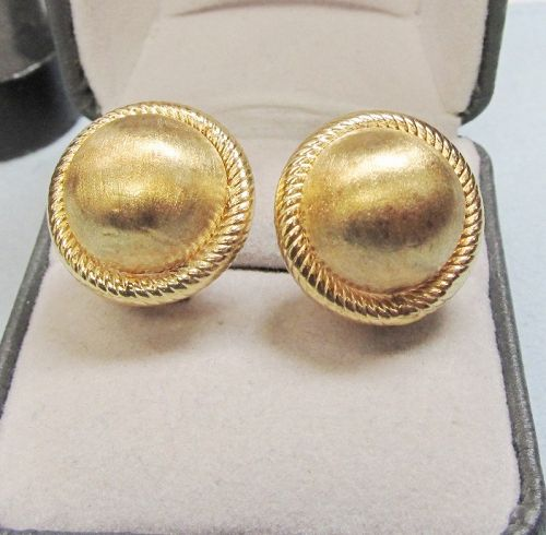 14Kt Gold Dome Earrings