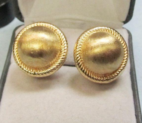 14Kt Gold Dome Earrings