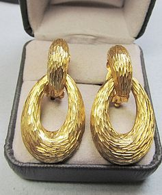 Elegant 14Kt Door-Knocker Earrings