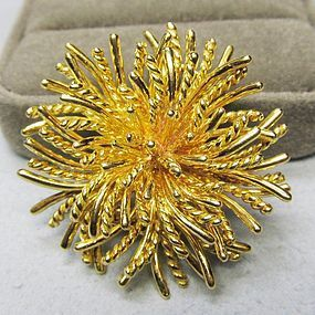 Tiffany & Co. 18Kt Gold Sea Anemone Pin / Broach