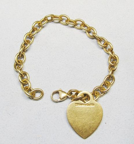 Tiffany 18Kt Gold Bracelet with Heart Tag