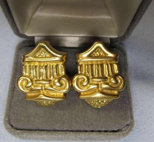 18Kt Gold Earrings, High Fashion