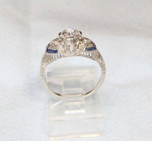 1920�s Platinum and Diamond engagement Ring