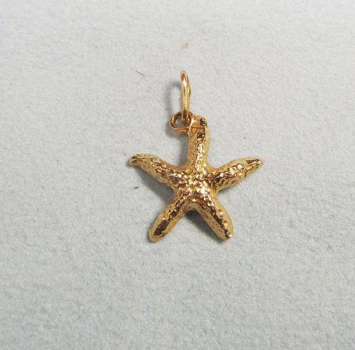 Starfish Charm 14Kt gold