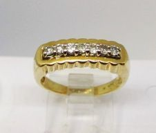 Diamond Ring Set in 14Kt Yellow Gold