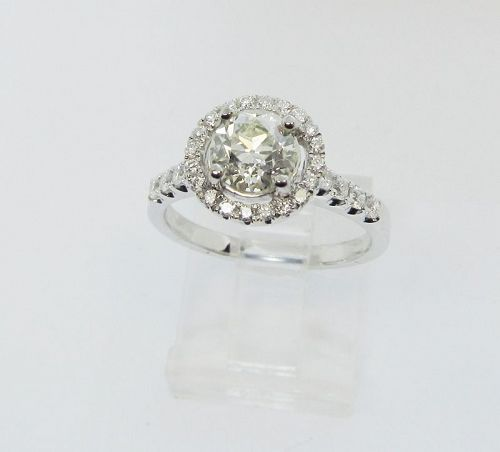 Old Mine Diamond Engagement Ring