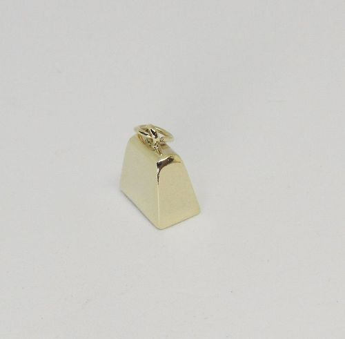 Vintage 14Kt Gold Cow Bell Charm
