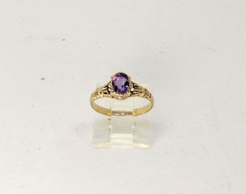 Victorian Amethyst and 14Kt Gold Ring