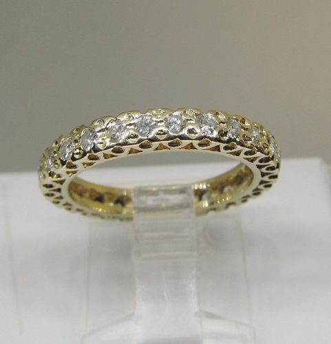 Diamond Eternity Band 14Kt Yellow Gold