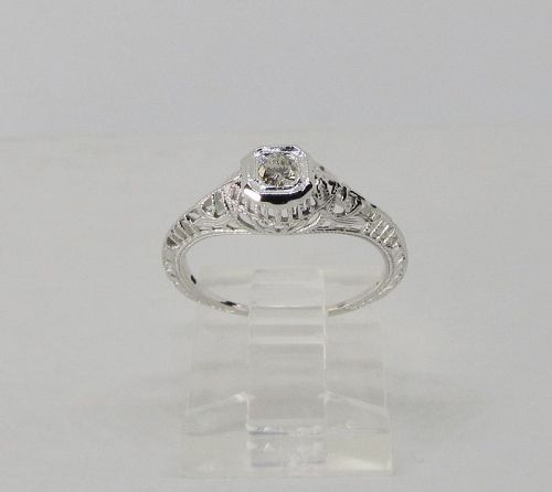Diamond Ring White Gold 1920-s
