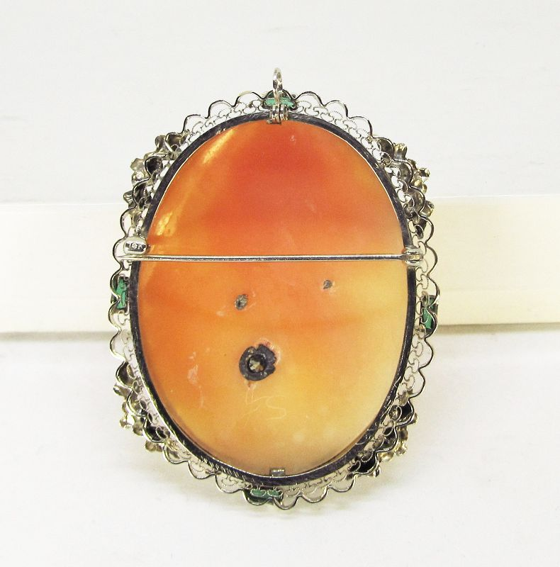 Shell-Cameo Broach 14Kt Gold Vintage