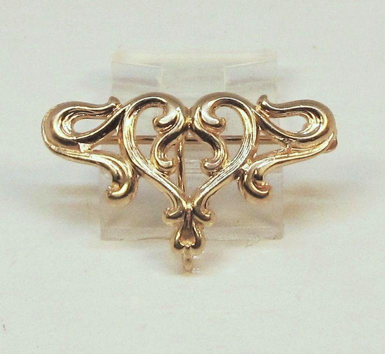 Watch Pin Art-Nouveau 14Kt Gold