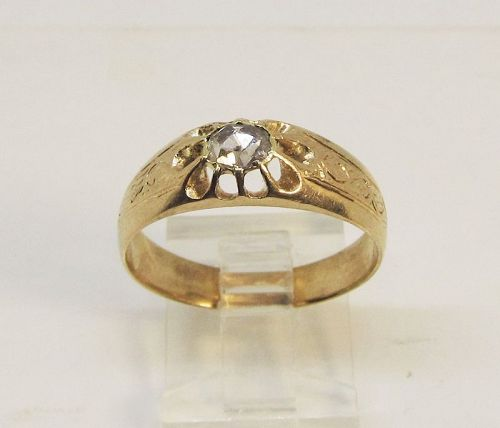 Antique Rose Diamond Ring 14Kt Gold