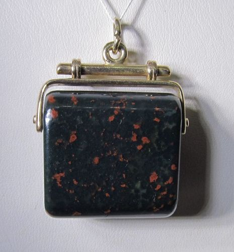 Bloodstone and Gold Fob / Pendant