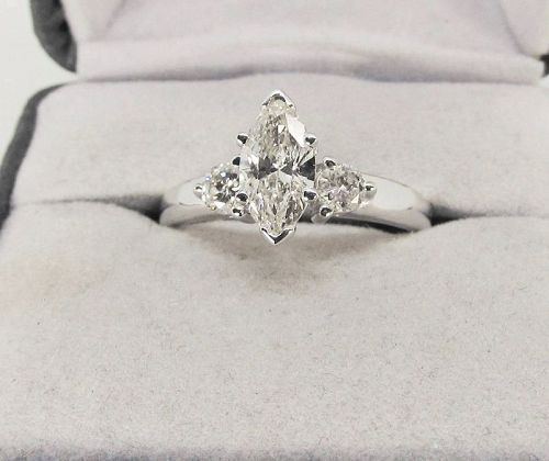 Marquise Diamond Engagement Ring 14Kt Gold