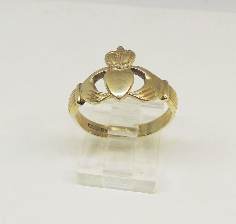 Gold Claddach Ring 14Kt British Marks