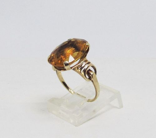 Retro Madeira Ring 14Kt Gold