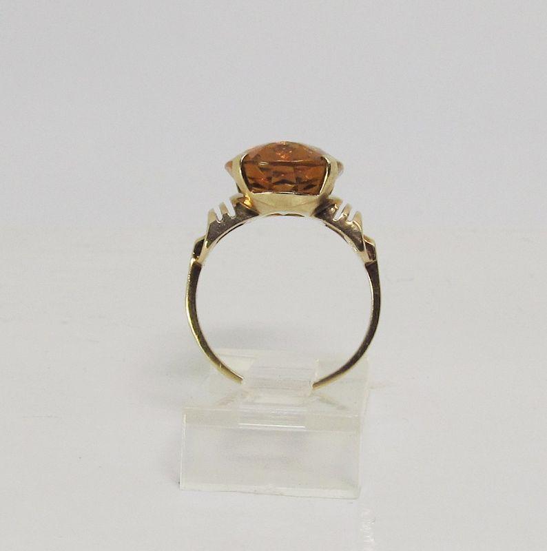 Retro Madeira Ring 14Kt Gold