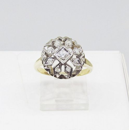Diamond Ring, Cluster, Openwork
