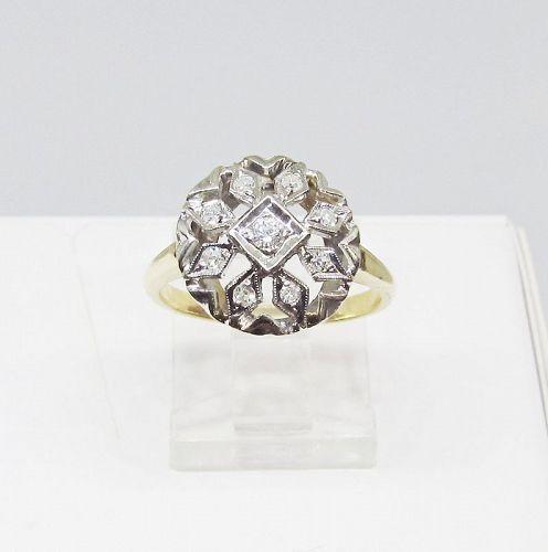 Diamond Ring, Cluster, Openwork