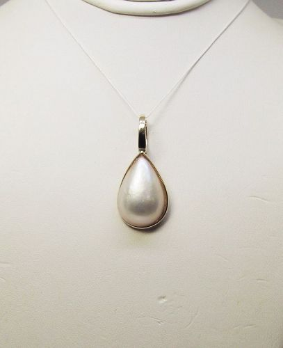 Mabe Pearl Pendant/ Enhancer 14Kt Gold