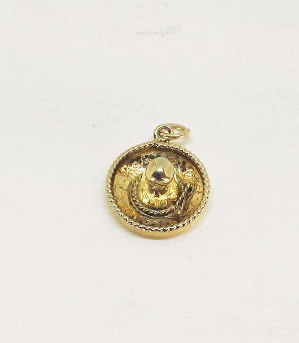 Sombrero Charm / Pendant 14Kt Yellow gold