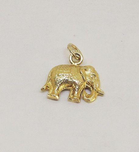 Elephant Charm / Pendant 14Kt Gold