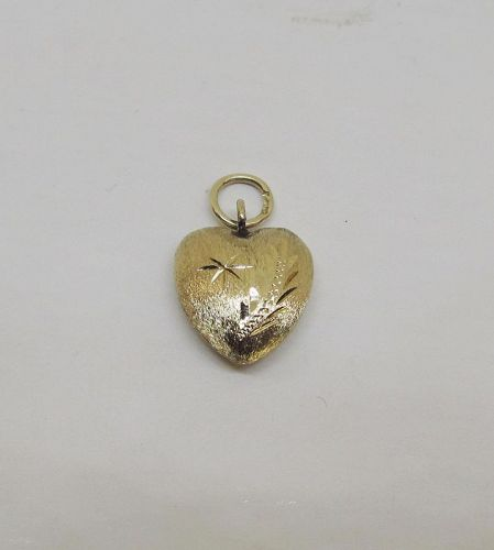 Heart Charm/Pendant 14Kt Yellow Gold