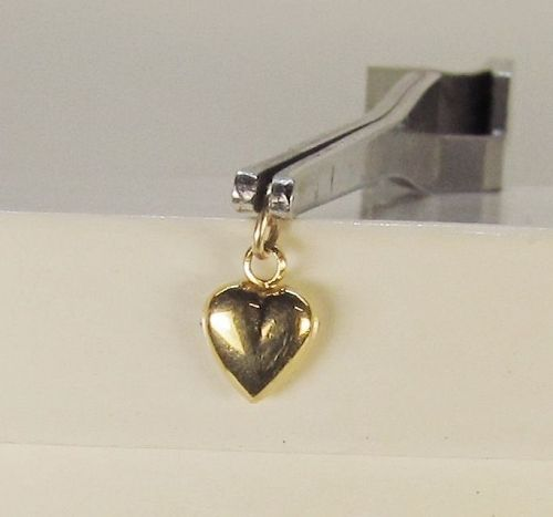 Heart Pendant/Charm 14Kt Yellow Gold