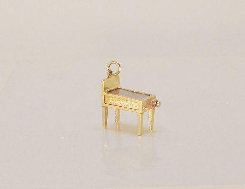 Pinball Machine Movable Charm / Pendant 14Kt Yellow Gold