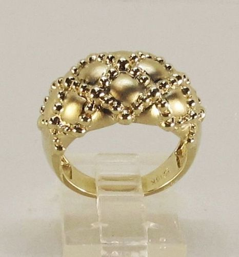 Fancy Classic Estate Dome Ring 14Kt Yellow Gold