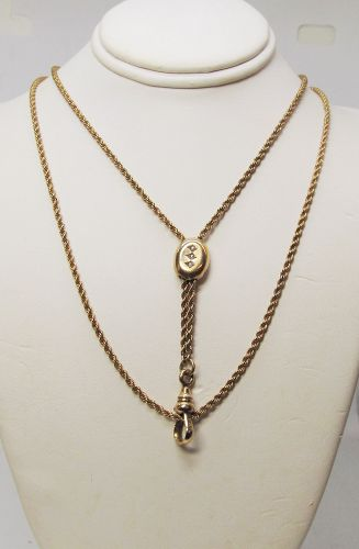 Victorian Gold Filled Slide Chain With Seed Pearls
