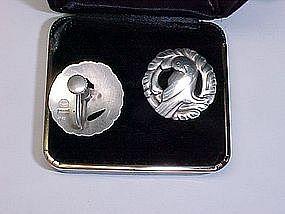 Georg Jensen Sterling Silver Dove Earrings