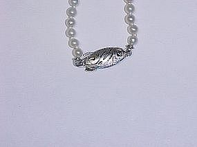 Graduated Cultured Pearl Strand With Silver Clasp
