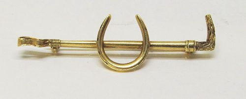 14Kt Gold Equestrian Pin