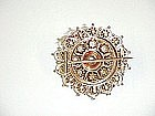 Victorian 14Kt Gold and Seed Pearl Broach
