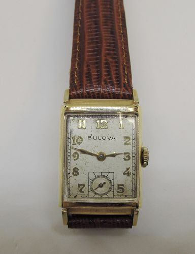 14Kt Gold BULOVA Tank Wristwatch