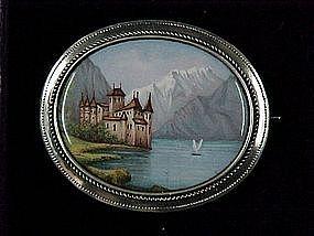 Austrian Silver Enamel Broach