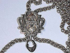 15 Kt Gold Ornamented Victorian Slide Chain