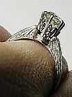 Basket Set Old Mine Diamond Engagement Ring