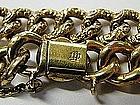 Antique Victorian Unger Brothers 14 Kt Link Bracelet